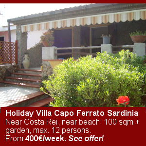 Holiday Villa Capo Ferrato Sardinia