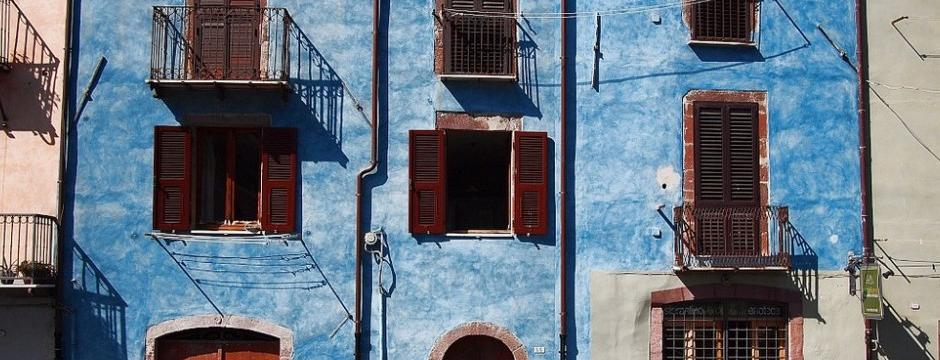 Blue Housefronts in Bosa